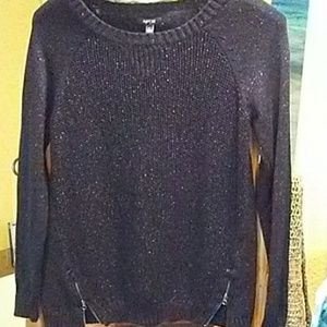 Apartment 9 Black Silver knit Sweater